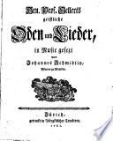 Gellerts Geistliche Oden Und Lieder