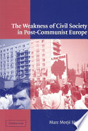 The Weakness of Civil Society in Post Communist Europe