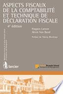 Aspects fiscaux de la comptabilit   et technique de d  claration fiscale