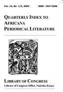 Quarterly Index to Africana Periodical Literature