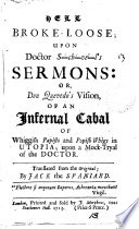 Hell Broke loose  Upon Doctor S  ch  ve  l s Sermons