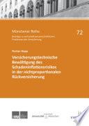 Versicherungstechnische Bewältigung des Schadeninflationsrisikos in der nichtproportionalen Rückversicherung