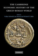 The Cambridge Economic History of the Greco-Roman World