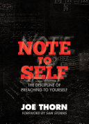 Note to Self  Foreword by Sam Storms