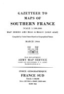 Gazetteer to Maps of Southern France