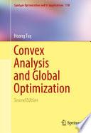 Convex Analysis And Global Optimization book