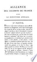 Alliance des Jacobins de France avec le minist  re anglais