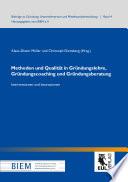 Methoden und Qualität in Gründungslehre, Gründungscoaching und Gründungsberatung
