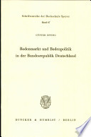 Bodenmarkt und Bodenpolitik in der Bundesrepublik Deutschland