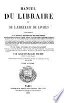 Ebook Manuel Du Libraire Et de L'amateur de Livres Epub N.A Apps Read Mobile