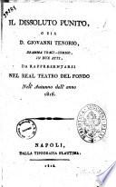 Il dissoluto punito  o sia D  Giovanni Tenorio  dramma tragi comico  in due atti  da rappresentarsi nel Real Teatro del Fondo nell autunno dell anno 1816  la musica    del signor Mozart