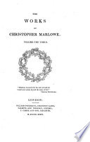 The works of Christopher Marlowe  ed  by G  Robinson