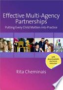 Effective Multi Agency Partnerships