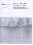 download ebook literacy behind bars results from the 2003 national assessment of adult literacy prison survey pdf epub