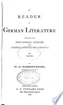 Reader of German Literature for High Schools  Colleges with Notes