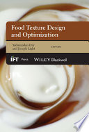 Food Texture Design and Optimization