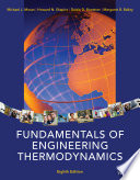 Fundamentals of Engineering Thermodynamics  8th Edition