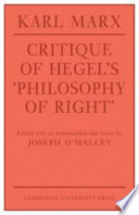 Critique of Hegel s  Philosophy Of Right