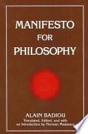 Manifesto for Philosophy