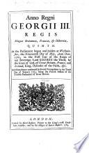 Anno Regni Georgii III     Quinto