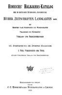 Hinrichs  Halbjahrs katalog der im deutschen Buchhandel erschienenen B  cher  Landkarten  Zeitschriften  c