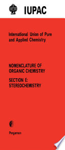 Rules for the Nomenclature of Organic Chemistry