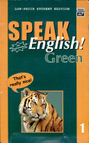 Speak English  Green 1 With Audiocassette