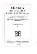 Seneca Ad Lucilium Epistulae Morales