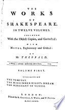 The Works of Shakespeare in Twelve Volumes