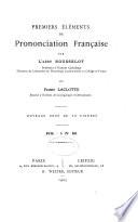 Premiers elements de prononciation francaise