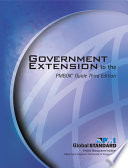 Government Extension to the PMBOK   Guide Third Edition