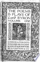 The Poems and Plays of Lord Byron