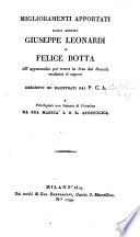 Miglioramenti Apportati Dagli Artisti Giuseppe Leonardi E Felice Botta All'apparecchio per trarre la Seta dai Bozzoli mediante il vapore