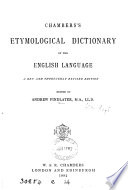 Chambers s etymological dictionary of the English language  ed  by J  Donald
