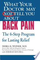 What Your Doctor May Not Tell You About(TM) Back Pain