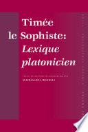 Timée le Sophiste: Lexique platonicien