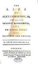 download ebook the life of alexander pope, esq pdf epub