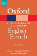 illustration du livre The Oxford business French dictionary: English - French