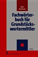 Fachwörterbuch für Grundstückswertermittler