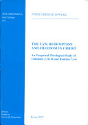 Book The Law, Redemption and Freedom in Christ