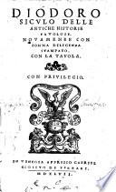 Diodoro Siculo Delle antiche historie favolose