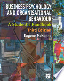 Business Psychology and Organisational Behaviour