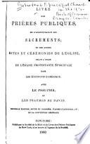 Livre Des Prières Publiques