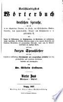 Vollständigstes wörterbuch der deutschen sprache