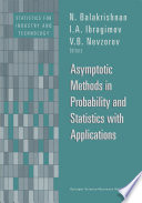 Asymptotic Methods In Probability And Statistics With Applications book