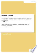 Guideline for the Development of Chinese Suppliers
