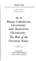download ebook roman catholicism, christianity and anonymous christianity pdf epub