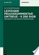 Leipziger Praxiskommentar Untreue      266 StGB