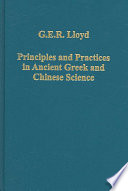 Principles and Practices in Ancient Greek and Chinese Science