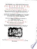 Historie der rechtzinnige Puriteinen ...